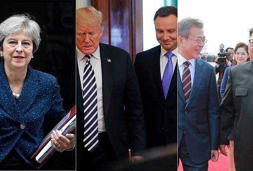 Live: May's Brexit woes, Fort Trump, Koreas rekindle
