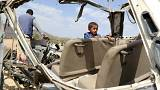 Saudi-led airstrike- displaced children