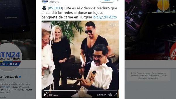 Kiakadtak a venezuelaiak Maduro lakomázásán a luxusétteremben