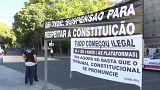 Tüntettek a portugál taxisok