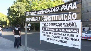 Taxi Streik gegen Uber in Portugal