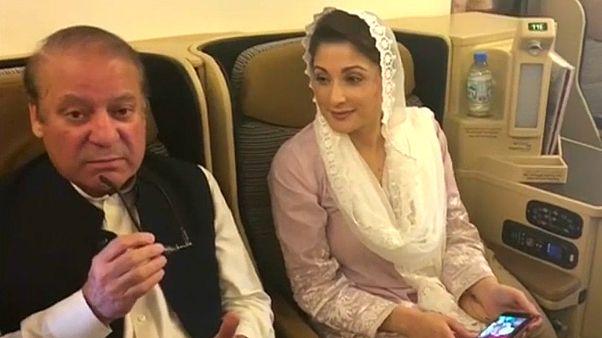 القضاء الباكستاني يأمر بالإفراج عن رئيس الوزراء السابق نواز شريف وابنته