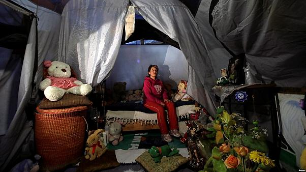 Watch: A year after Mexico earthquake, families are living in tents and in cardboard houses