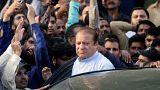Libertad para el ex primer ministro Nawaz Sharif mientras se revisa su sentencia