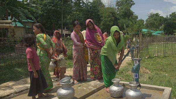 Rohingya menekültek jutnak ivóvízhez az EU támogatásával