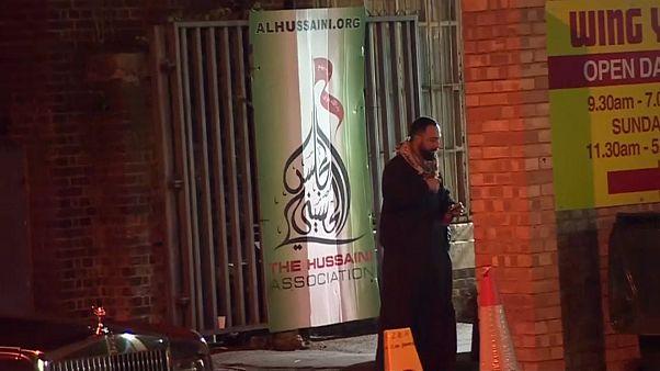 التجمع الإسلامي في لندن حيث اصطدمت سايرة بممر مشاة