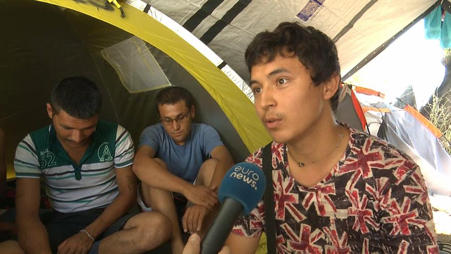Nine thousand aslyum seekers camped at Lesbos