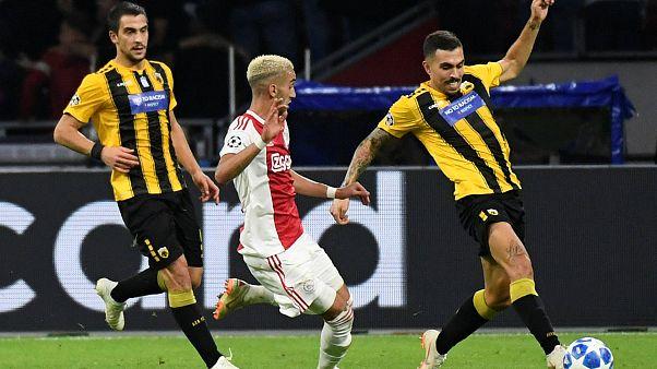 Champions League: Ήττα 3-0 της ΑΕΚ στην Ολλανδία από τον Άγιαξ