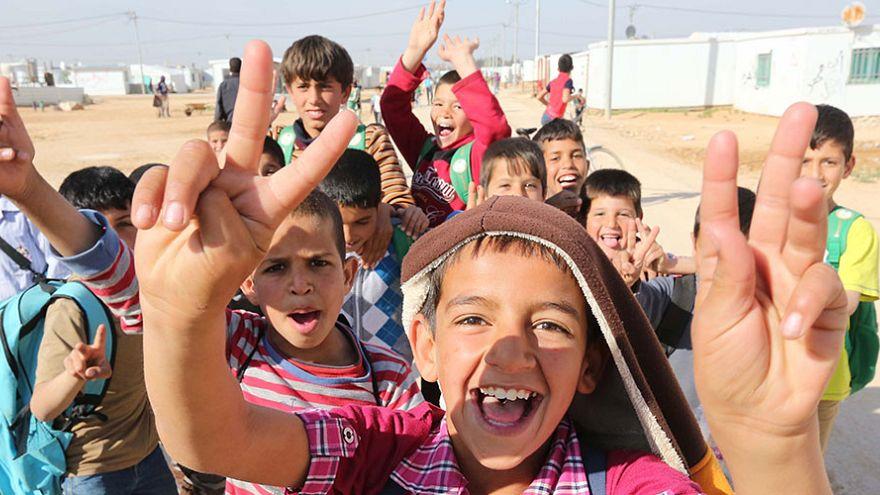 Ürdün Zataari mülteci kampındaki çocuklar
