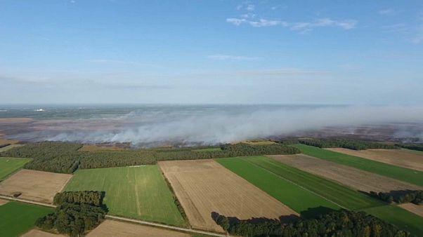Nach Raketentest der Bundeswehr: 800 Hektar Land brennen