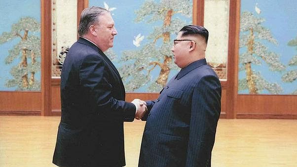 Mike Pompeo and Kim Jong-un
