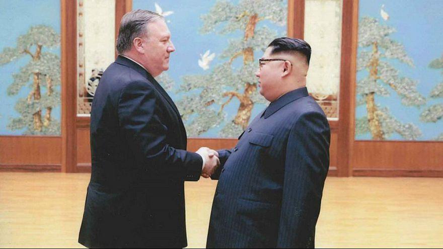 Mike Pompeo and Kim Jong-un