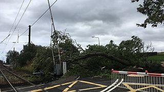 La tempesta Ali ha fatto danni anche a Livingstone, Scozia