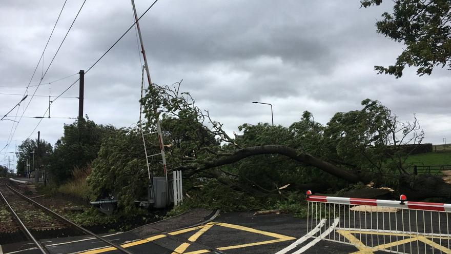 Storm Ali also inflicted damage in Livingstone, Scotland