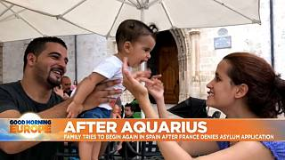 Watch: Family saved by Aquarius ship make a new life in Spain