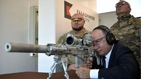 Watch: Putin shows off sniper skills with new Kalashnikov rifle