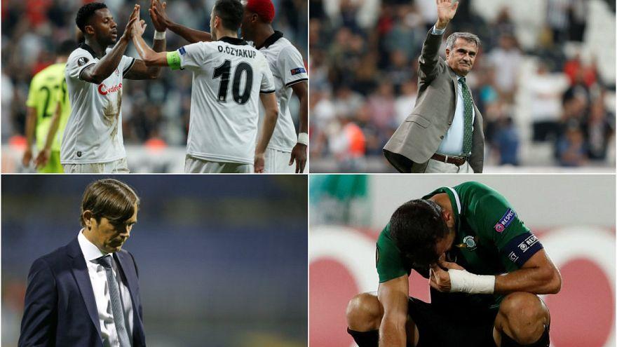 UEFA'da Beşiktaş kazandı Akhisar direklere takıldı Fenerbahçe hüsrana uğradı