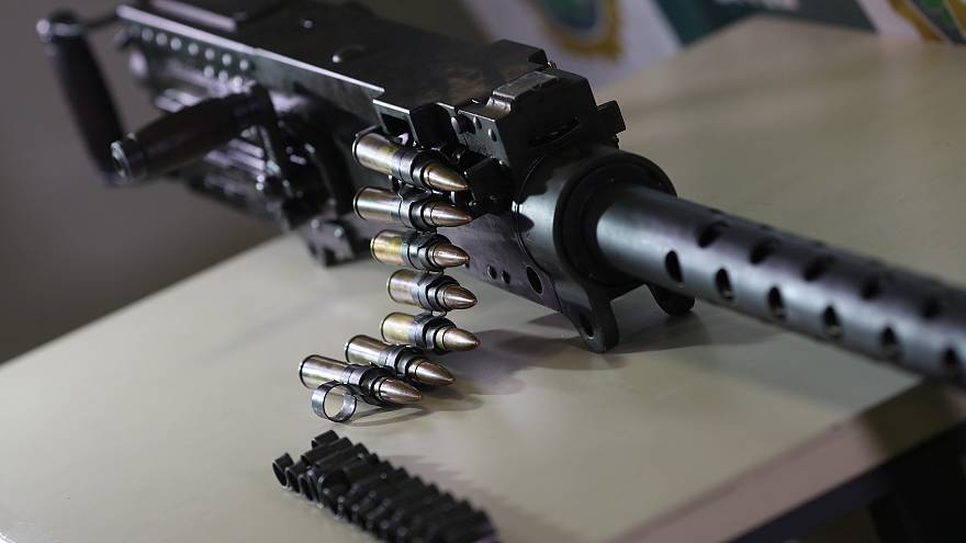 В фавеле нашли пулемет М2