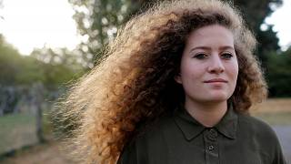 Ahed Tamimi poses for a picture before conference in Nantes France