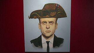Emmanuel Macron croqué par les caricaturistes