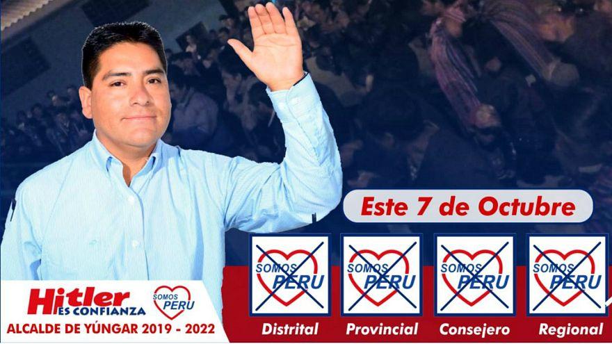 هيتلر سانشيز مرشح لرئاسة بلدية في البيرو