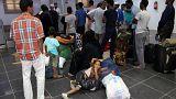 القتال يُجبر مسافرين على الانتظار في مطار مصراته بعد إغلاق مطار طرابلس