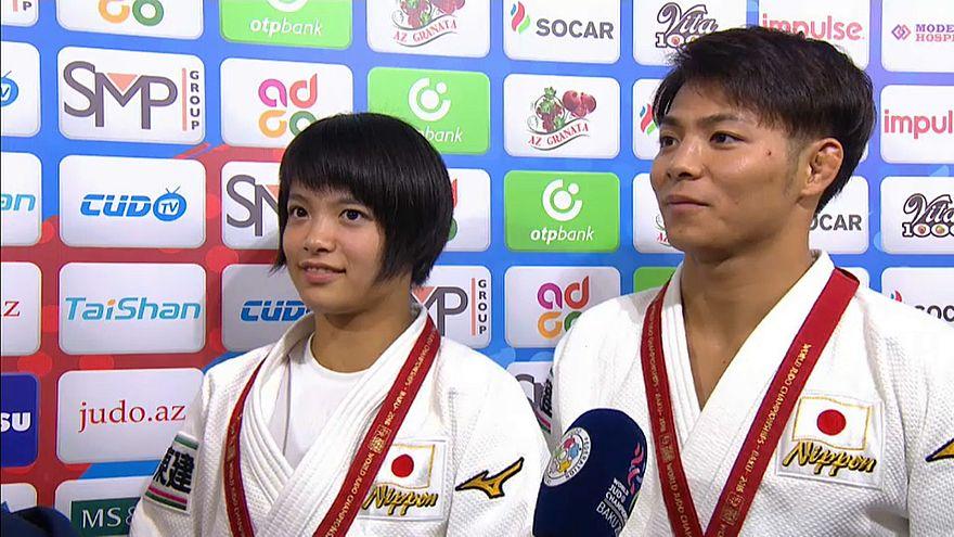 اليابانيان أوتا وهيفومي آبيه أول شقيقين يفوزان ببطولة العالم للجود في يوم و