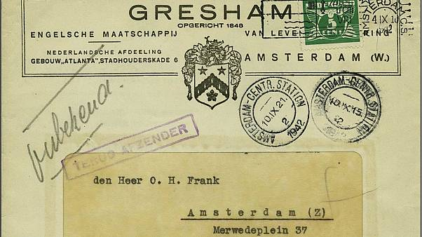Unopened letter to Anne Frank's father fetches €9,500 at auction