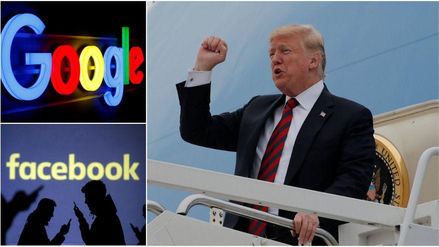 Trump'tan Google ve Facebook'u cezalandırabilmek için kararname