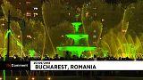 ویدئو؛ ارکستر سمفونی و نمایش فوارهها در بخارست