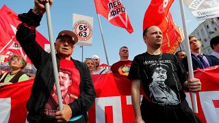 Russland: Rentenproteste reißen nicht ab