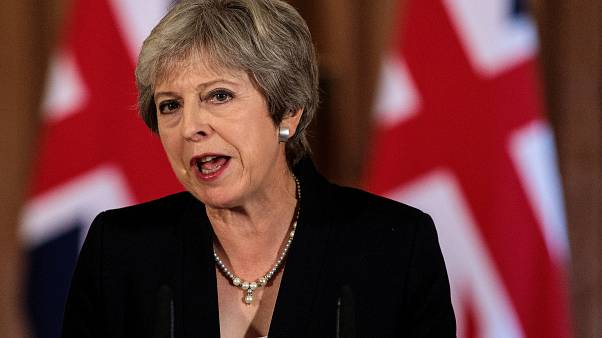 Britain's Prime Minister Theresa May makes statement about Brexit