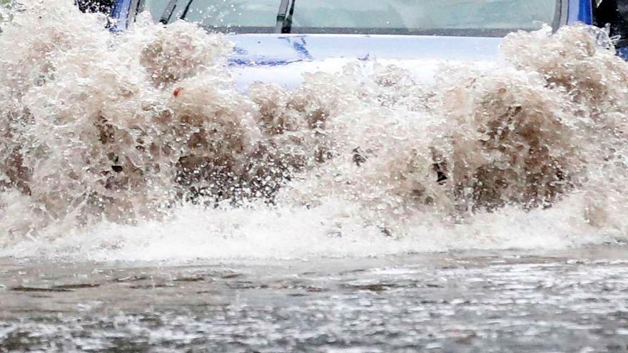 شاهد:  فيضانات جارفة في منطقة نابل التونسية