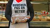 Vegan activists target French butchers