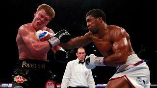 ملاكمة: جوشوا يحتفظ بالألقاب العالمية للوزن الثقيل بعد هزيمته الروسي بوفتكين بالضربة القاضية