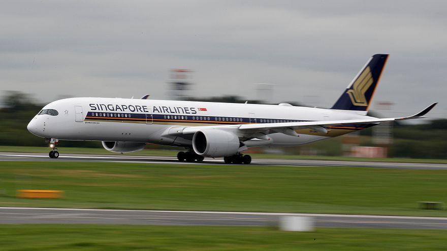 Singapur Havayolları'na ait Airbus A350-900 uçağı