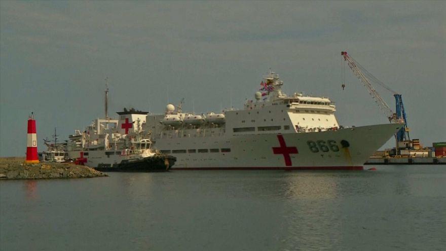 Un barco hospital chino ayuda a Venezuela