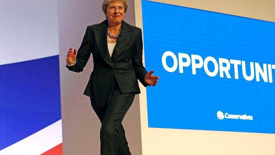 Theresa May au congrès annuel des Conservateurs britanniques