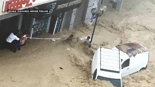 Inondations à Nabeul, Tunisie