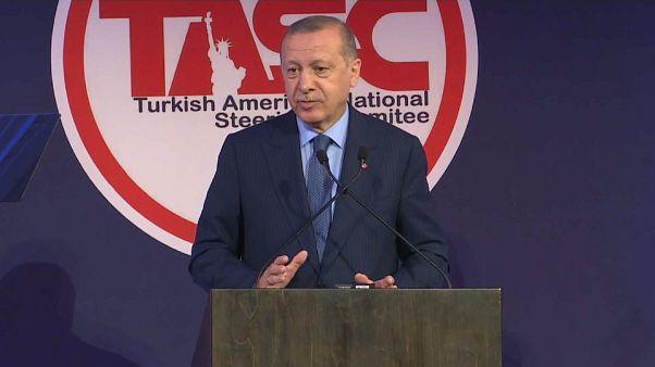 إردوغان يتعهد من نيويورك بفرض مناطق آمنة شرقي الفرات في سوريا