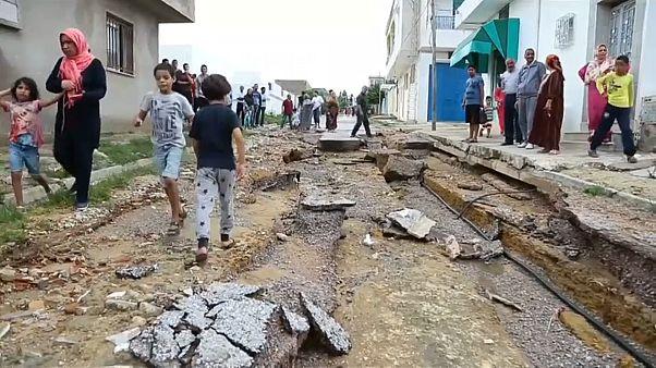 Tunézia legpusztítóbb áradása a mostani