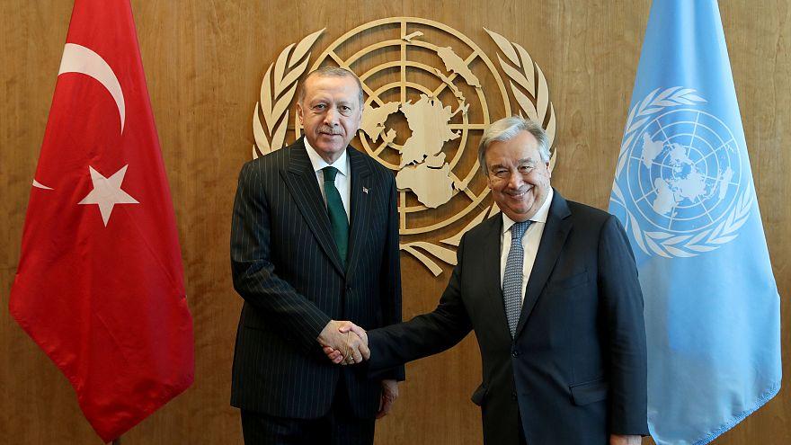 Cumhurbaşkanı Erdoğan'ın BM mesaisi Genel Sekreter Guterres görüşmesiyle başladı