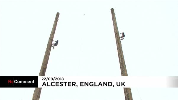 Britain hosts World 25-metre Pole climbing championships