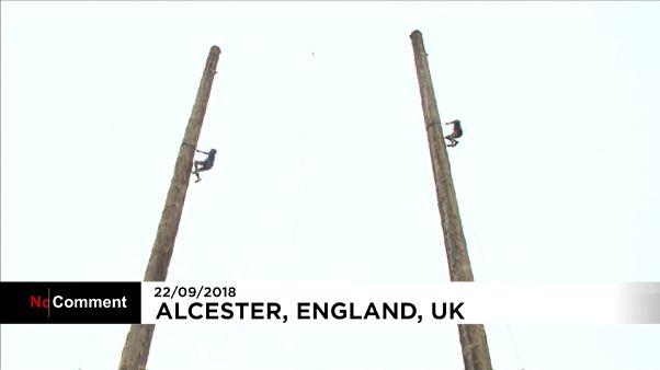 Championnats du monde d'escalade de troncs d'arbre en Angleterre