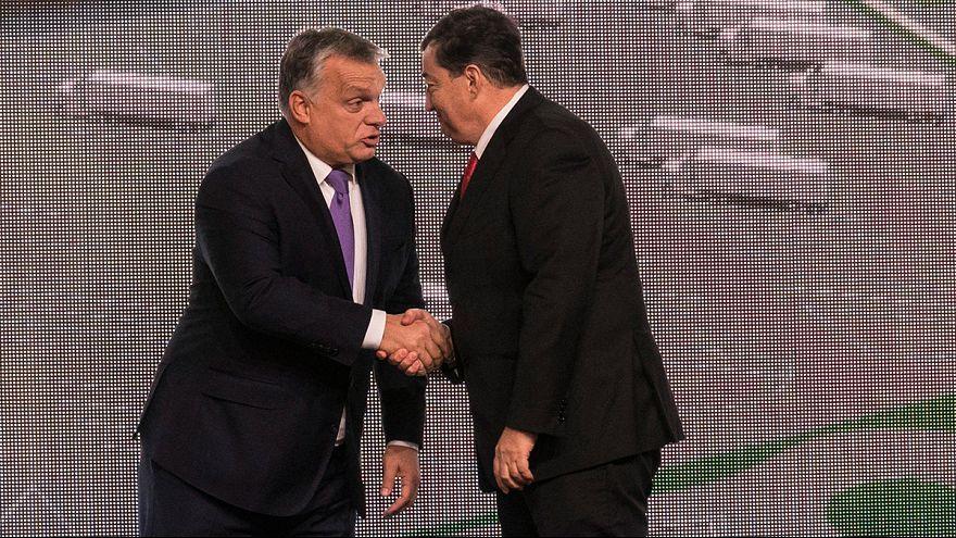Orbán Viktor és Mészáros Lőrinc Tiszapüspökiben 2017. október 30-án