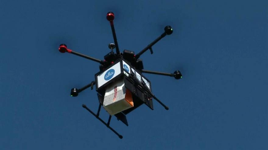 Watch: Pie in the sky? Iceland embraces growing drone delivery service