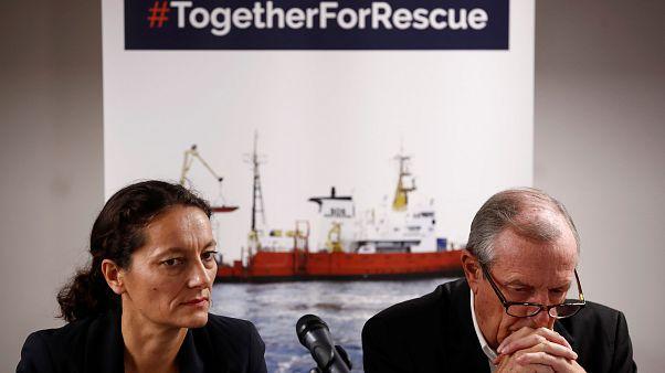 Sophie Beau (SOS Méditerranée) et Francis Vallat (SOS Méditerranée France)
