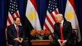 ترامب يشيد بجهود مصر في مكافحة الإرهاب