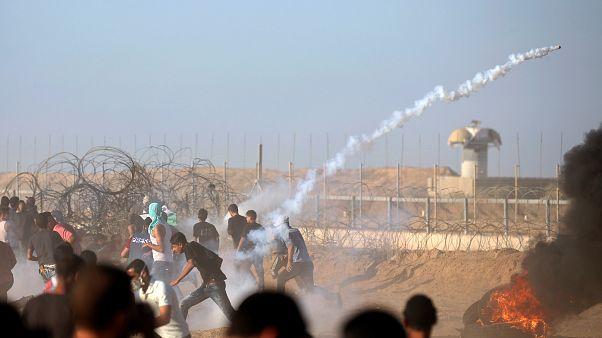 Manifestations et affrontements dans la bande de Gaza