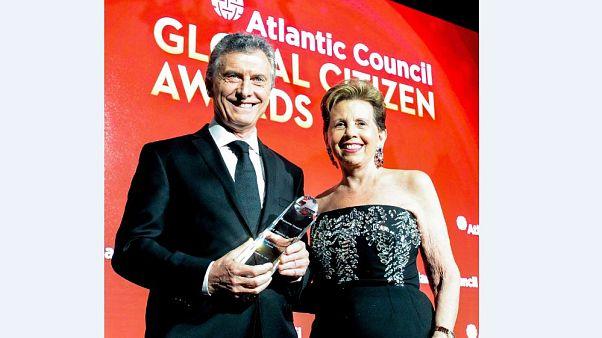 """Macri recibe el premio al """"Ciudadano Global"""" en Nueva York"""